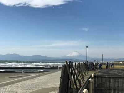 湘南海岸公園で富士山